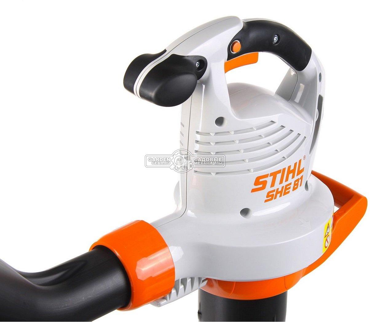 Садовый пылесос воздуходувка электрическая stihl she 81 (48110110839