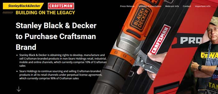 Black&Decker покупает бренд Craftsman