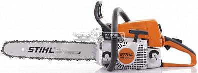 "Бензопила Stihl MS 230 C-BE 16"" (PRC, 40,2 куб.см., 2,0 кВт/2,7 л.с., Ergostart, 3/8"", 1,3 мм., 55E, 4,9 кг.)"